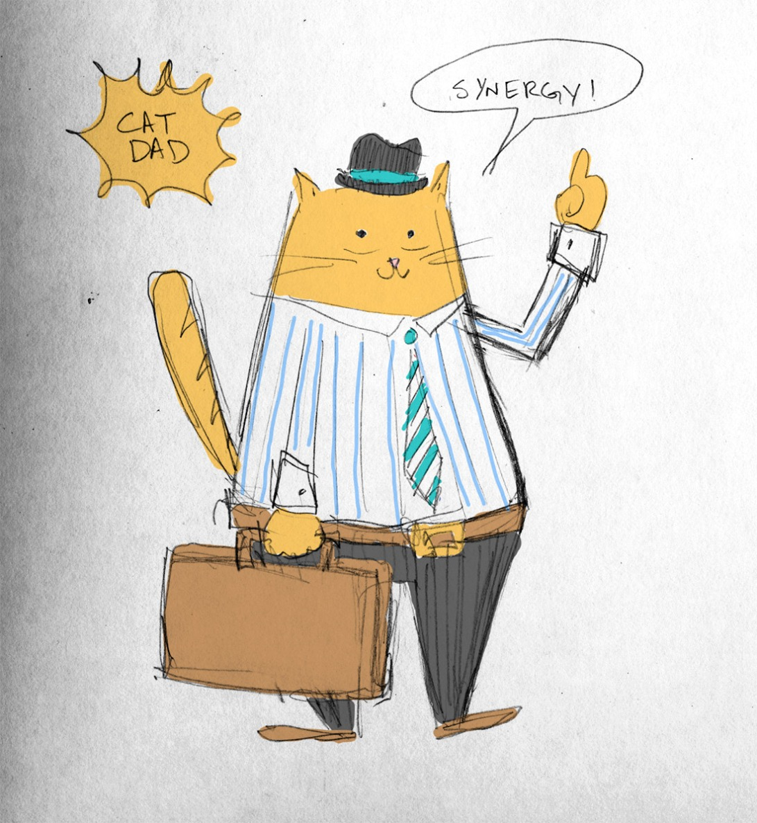 Cat Dad in Color Erika Schnatz