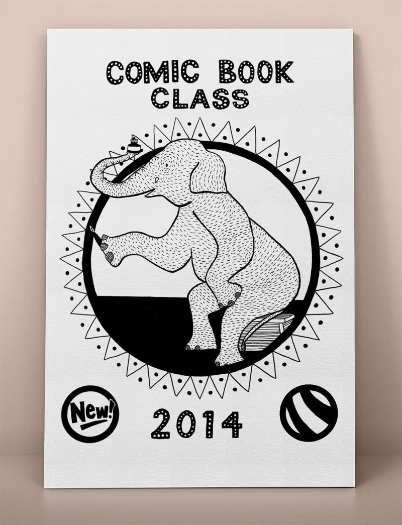 Comic book class comics cover Erika Schnatz