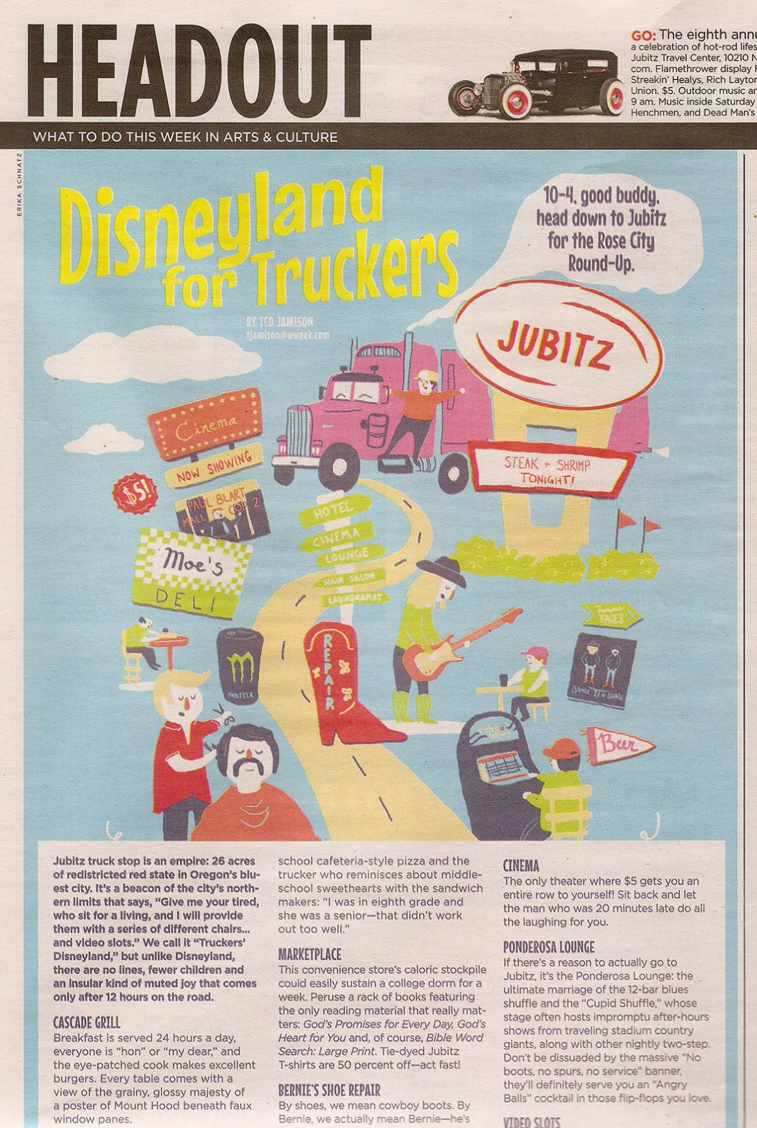 Disneyland for Truckers in print Erika Schnatz