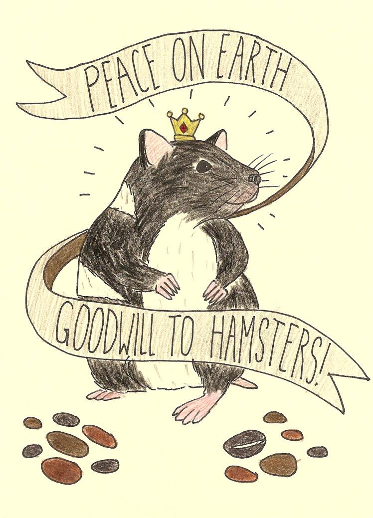 Peace and Hamsters Card Erika Schnatz