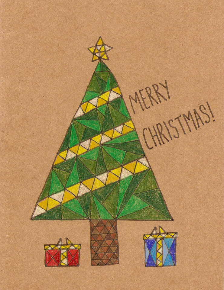 Geometric Tree Card Erika Schnatz