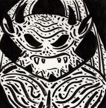 Inktober 23: Ack! A Demon!