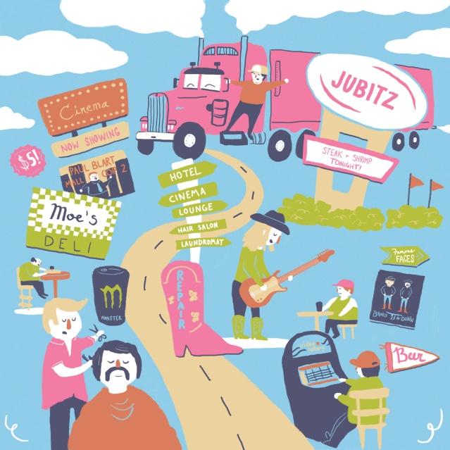 Erika Schnatz Disneyland for Truckers Illustration