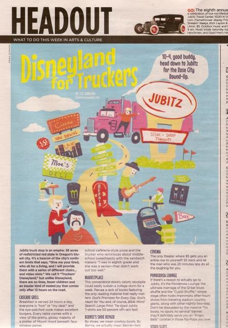 Erika Schnatz Printed Disneyland for Truckers Illustration