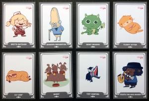 Erika Schnatz - Cute K.O. Trading Cards 2017 - Designs